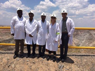 The partners of the ZAMITA programme: NORTEC, UNIDO, Volvo and the Embassy of Sweden, also visited the Konkola Copper mine in Chingola.