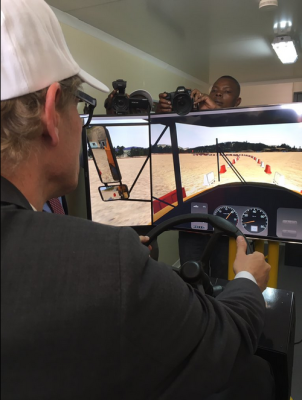 The Swedish Ambassador Henrik Cederin tried out the ZAMITA's innovative training tools.